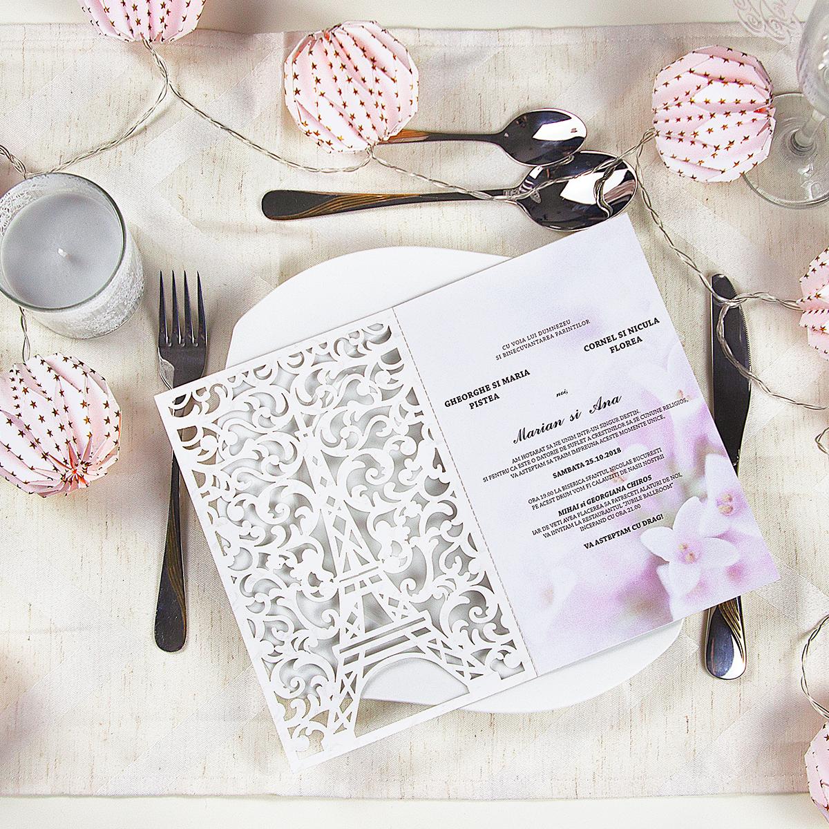 Invitație Paris Fd Studio Invitații De Nuntă